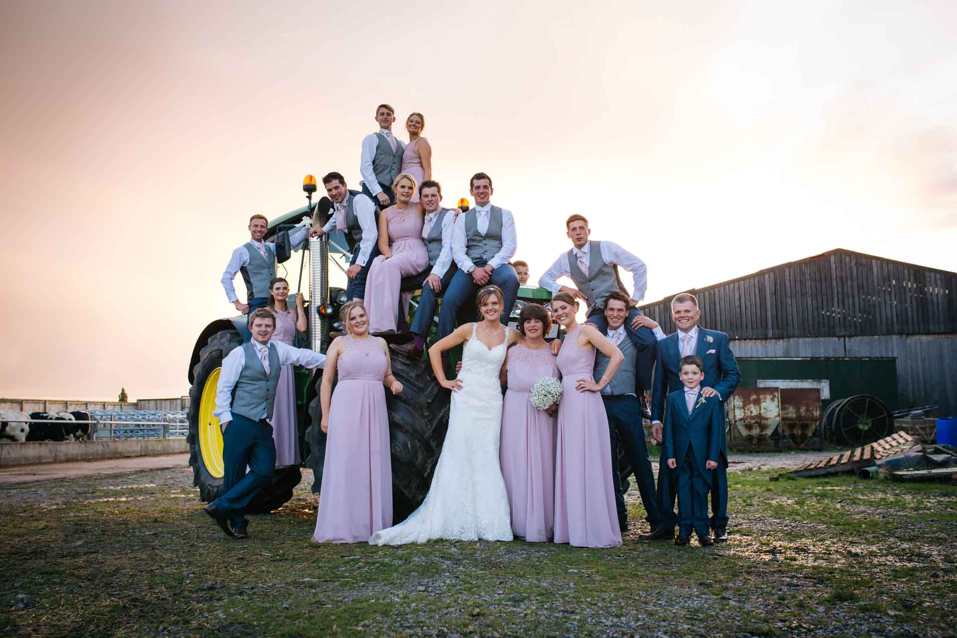 Becky & Ryan's wedding Group Tractor