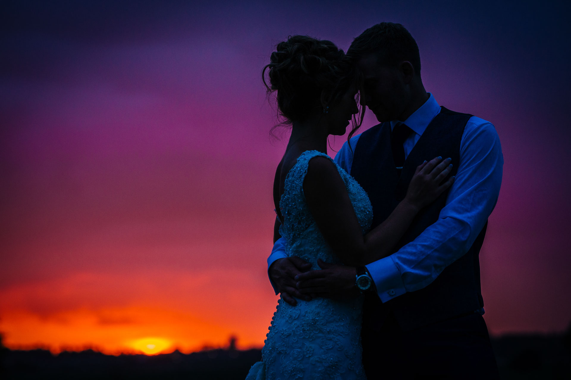 Tim & Laura's Sunset - Joanna Eardley Photography