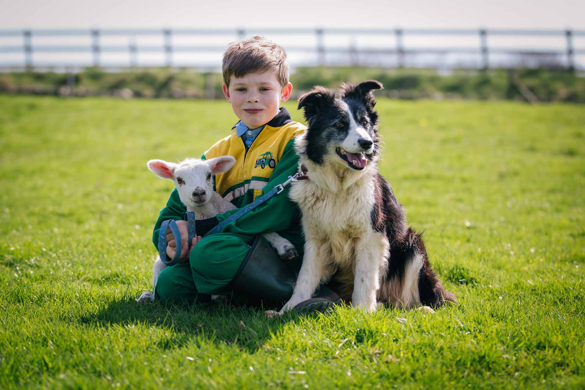 A young shepherd. Charlie and his border Collie